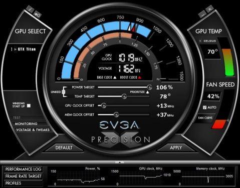 Утилита EVGA Precision X 4.0.0