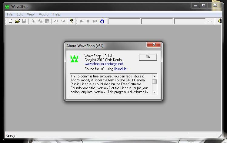 Программа WaveShop