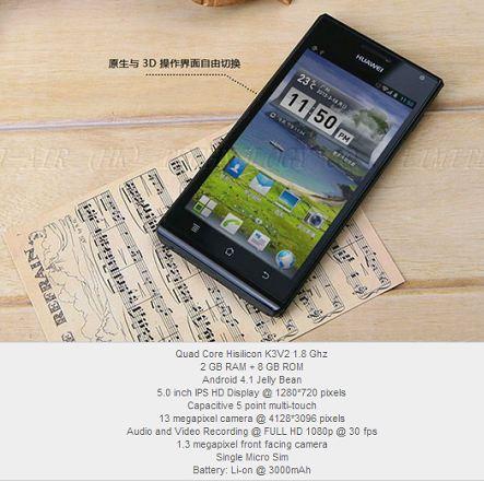 Huawei готовит анонс 5-дюймового смартфона – Ascend P2