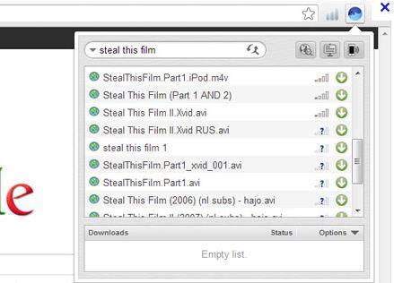 Расширение BitTorrent Surf