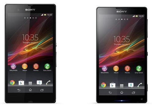 Смартфоны Sony Xperia ZL и Xperia Z