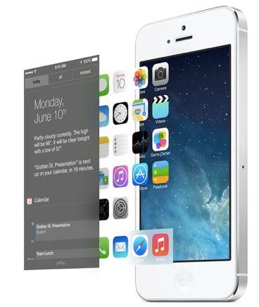 У новой iOS 7 практически полностью переработан дизайн