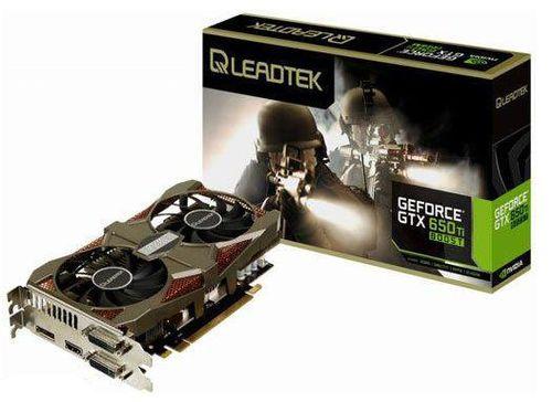 Leadtek представили свою редакцию видеокарты GeForce GTX 650 Ti Boost