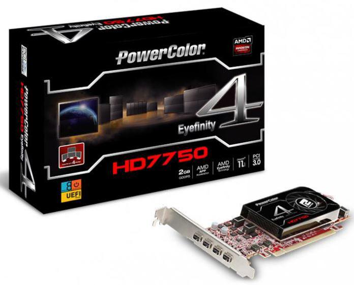 PowerColor представили видеокарту HD 7750 Eyefinity 4 LP Edition