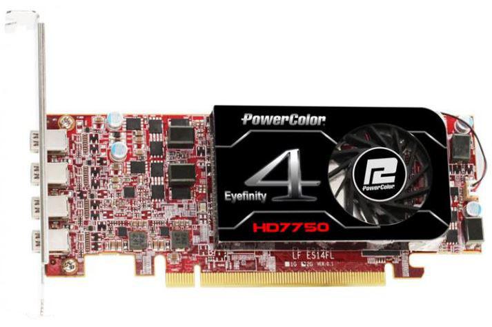 Видеокарта PowerColor HD7750 Eyefinity 4 LP Edition