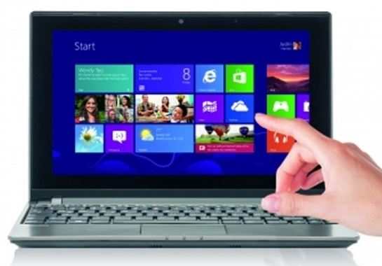 И еще одна интересная новинка - ноутбук Medion The Touch 10