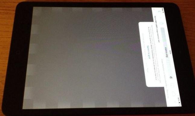 Открылась проблема  с дисплеем у новых iPad mini