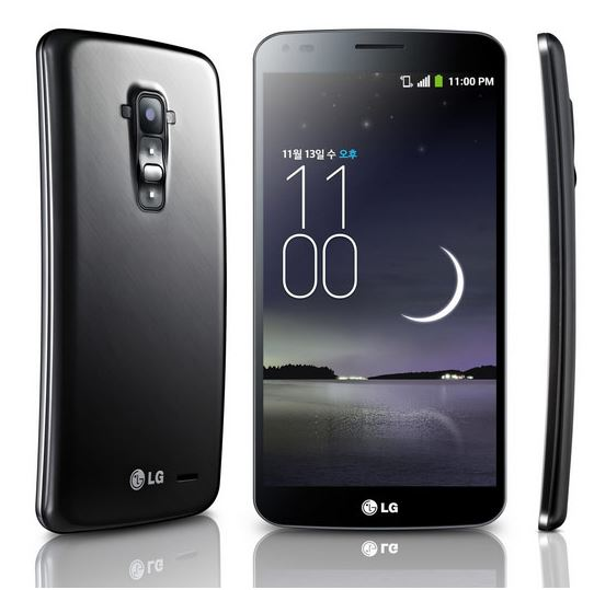 Новый изогнутый смартфон LG G FLEX