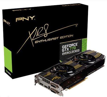 Компания PNY выпустили разогнанные версии GTX 770 и GTX 780
