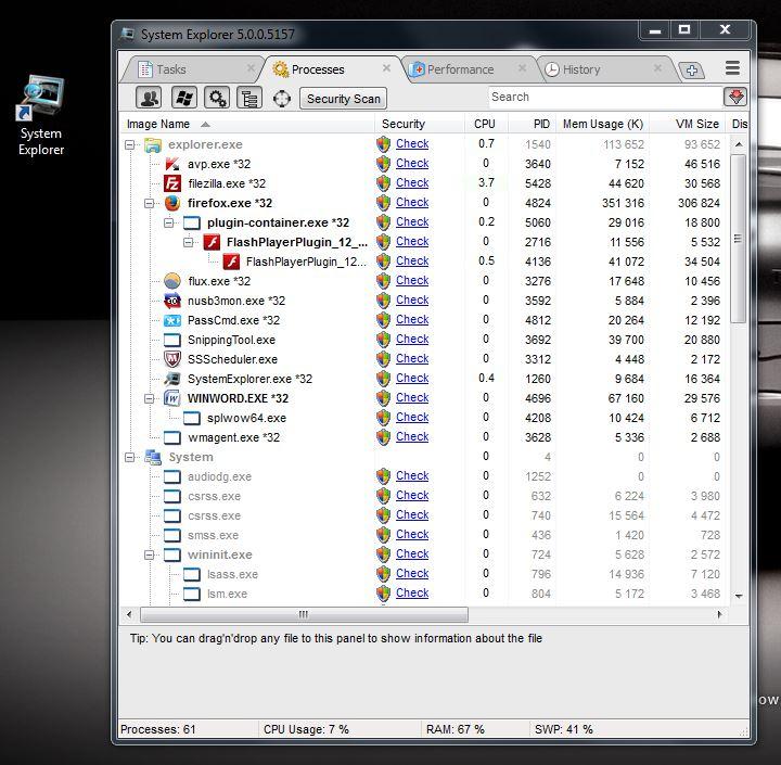 Обновилась утилита System Explorer 5.0
