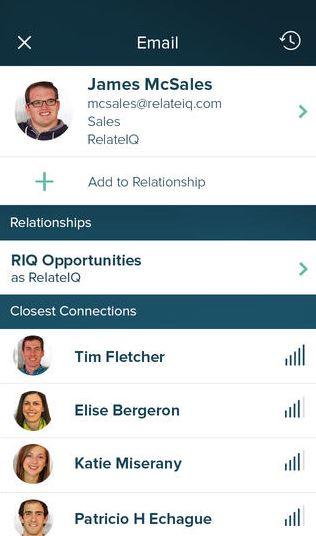 Обновилось приложение RelateIQ для iPhone