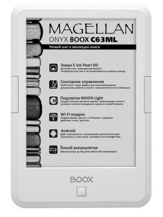 Лучшим букридером в России признан ONYX BOOX C63ML Magellan