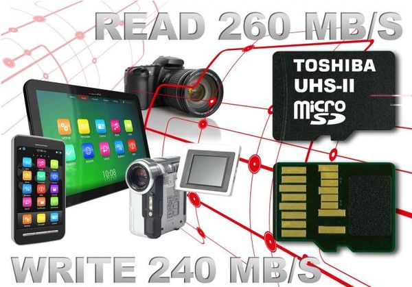 Toshiba предлагает скоростные карты памяти microSD