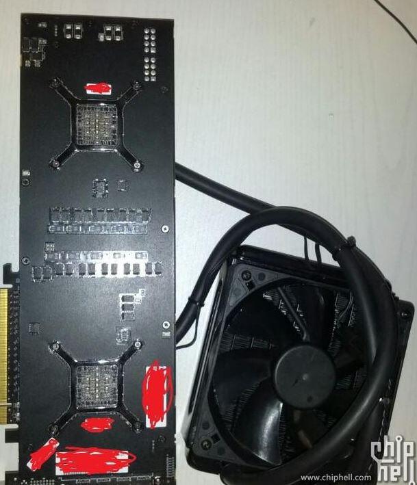 В азиатском Интернете появились фото и спецификации видеокарты Radeon R9 295X2