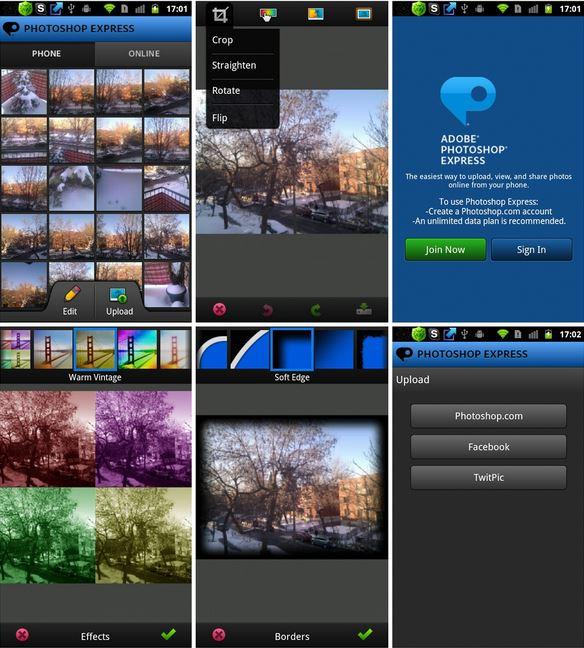 Обновилось приложение Photoshop Express для ОС Андроид
