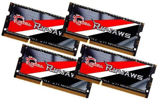 G.SKILL выпустили комплект модулей памяти RipJaws DDR3L 2133 МГц 32 Гб SO-DIMM