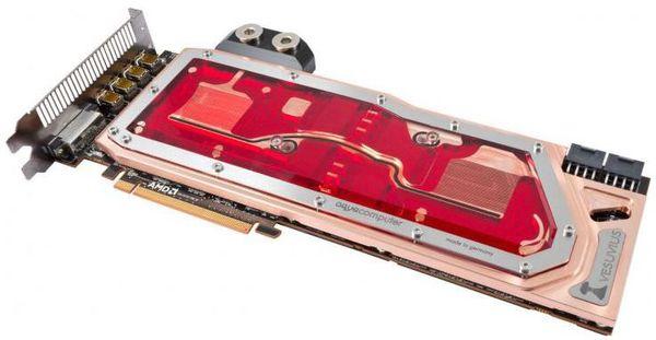 Aqua Computer представили водоблок для видеокарты Radeon R9 295X2