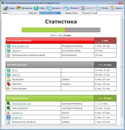 Выпущено приложение Time Inspector для мониторинга сотрудников