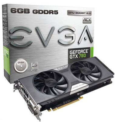 EVGA выпустили видеокарту GTX 780 с 6 Гб видеопамяти на борту