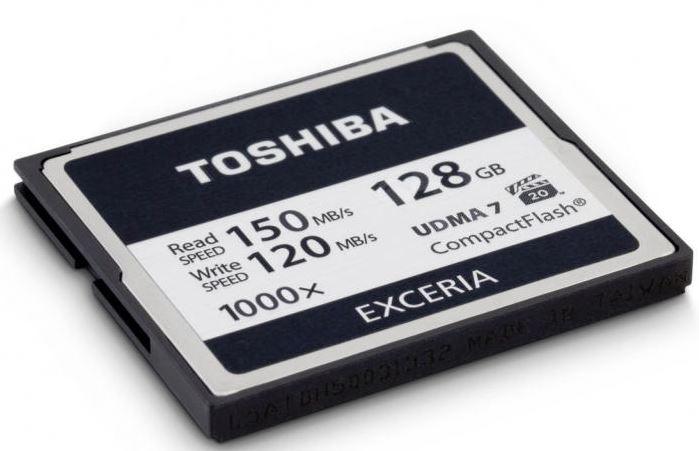 Новые карты памяти Toshiba EXCERIA 1000x