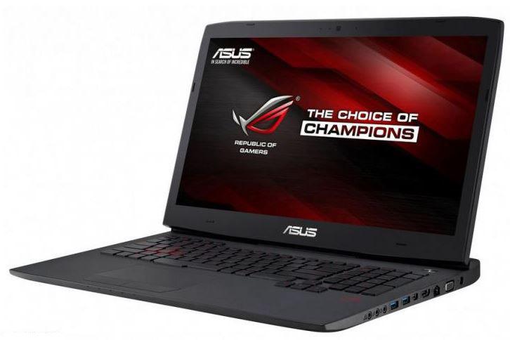 Asus выпустили игровой ноутбук G751 из серии ROG