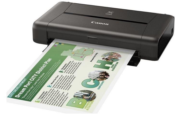Компания Canon представили PIXMA iP110 - портативный беспроводной принтер