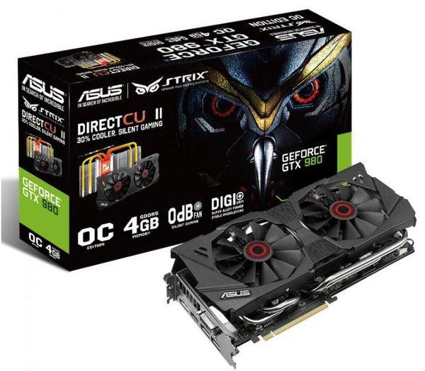Asus выпускает видеокарты Strix GTX 970 и Strix GTX 980