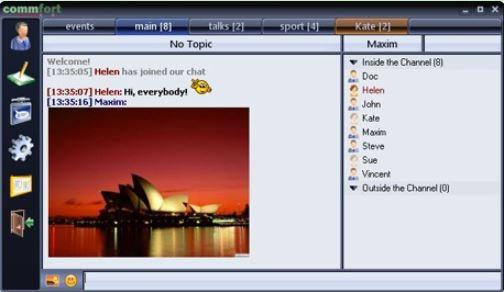 В новой версии программы CommFort появилась проверка орфографии и улучшенная передача звука