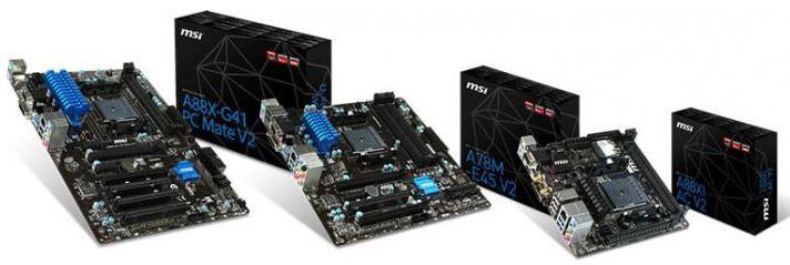 MSI выпустили 8 новых материнских плат FM2+ под процессоры AMD Godavari