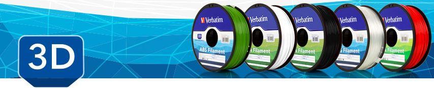 Verbatim представили на российском рынке качественные материалы ABS и PLA для 3D печати