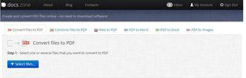 Docs.Zone - конвертер PDF файлов онлайн
