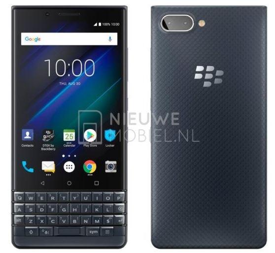Информация о смартфоне BlackBerry KEY2 LE появилась на рендерах