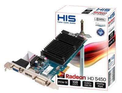 Новая модель HD 5450 от компании HIS
