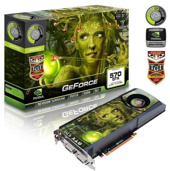 Видеокарта Point of View GTX 570 Beast Edition с воздушным охлаждением