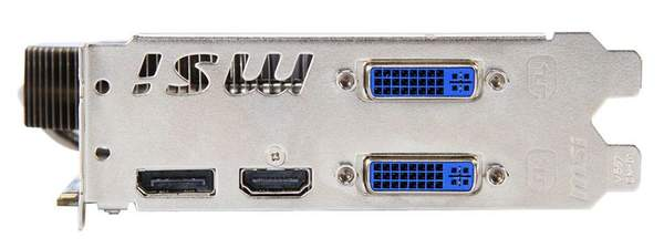 Порты видеокарты MSI R6850 Cyclone 1GD5 Power Edition