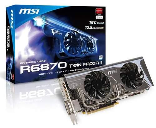 Новая видеокарта R6870 от MSI с фирменным охлаждением Twin Frozr II