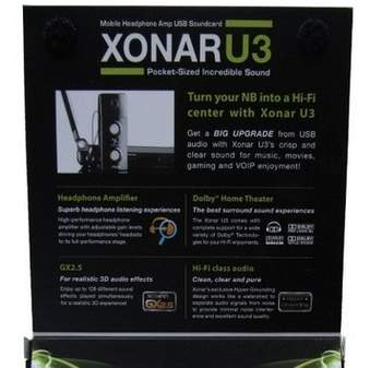 Упаковка Asus Xonar U3 - обратная сторона