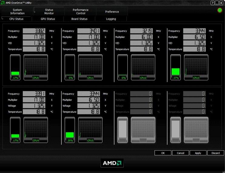 Для разгона процессора отлично подойдет утилита AMD OverDrive