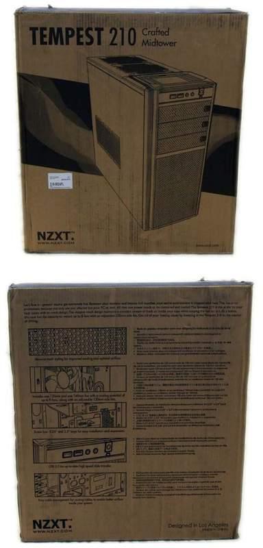 Упаковка корпуса NZXT Tempest 210