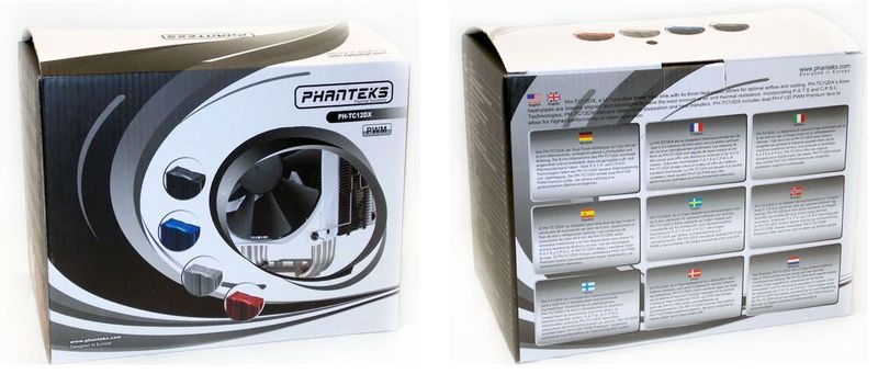 Упаковка кулера Phanteks PH-TC12DX