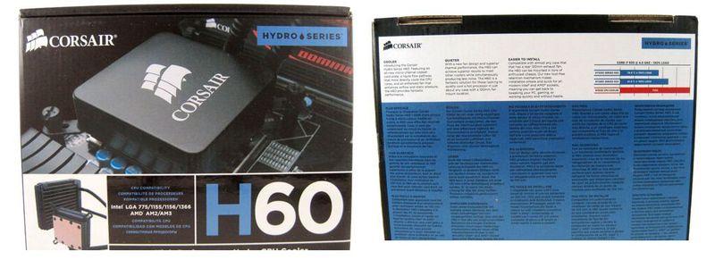 Упаковка кулера Corsair Hydro H60