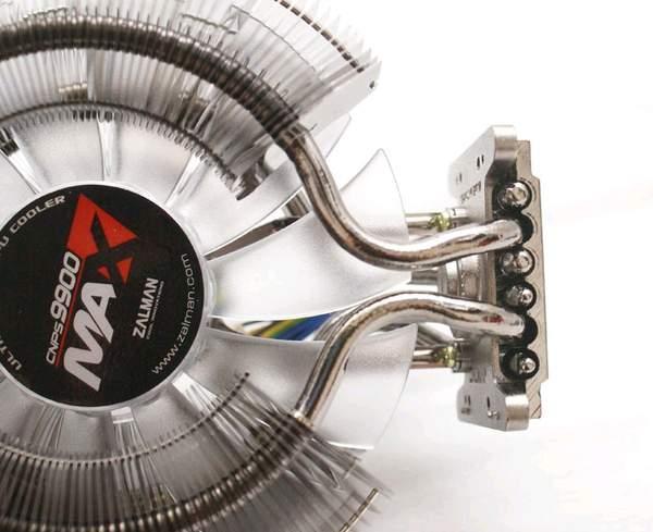 Крыльчатка вентилятора ZALMAN CNPS9900 MAX довольно узкая