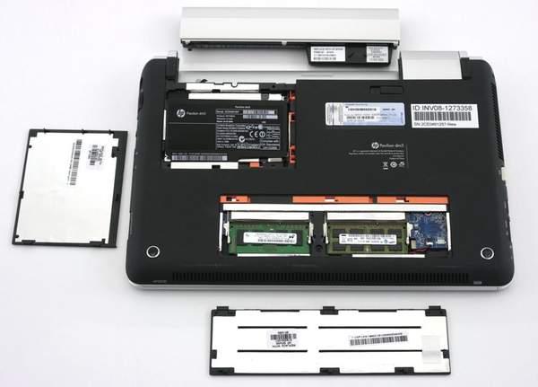 Апгрейд ноутбука Pavilion dm3t HP максимально облегчили