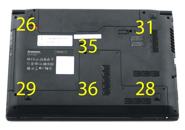 Температура на нижней поверхности Lenovo B470
