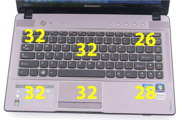 Нагрев верхней поверхности Lenovo IdeaPad Z370