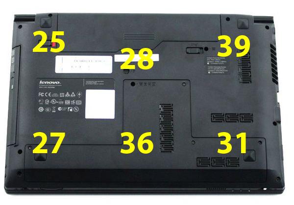 Нагрев нижней поверхности Lenovo IdeaPad Z370