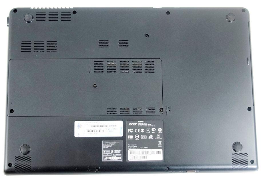 Нижняя поверхность ноутбука Aspire Timeline Ultra M3