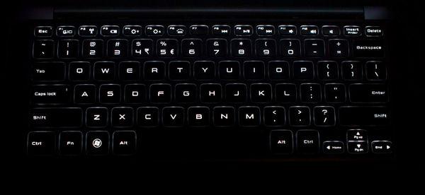Подсветка клавиш