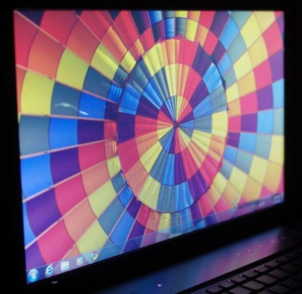 Горизонтальные углы обзора Lenovo IdeaPad Y570