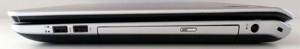 Правая сторона ноутбука HP ENVY dv7